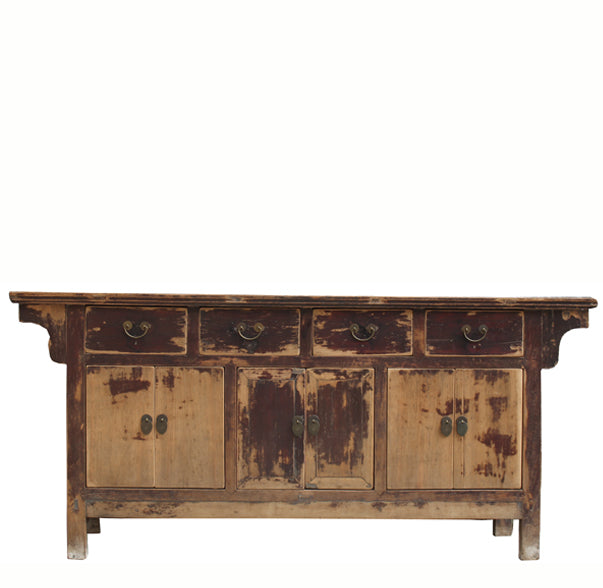 Chinese Antique Black Tianjing Living Room Sideboard Dyag East
