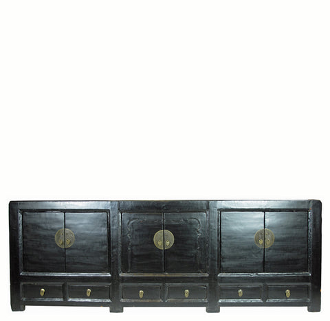 Long Black Lacquer Sideboard - Dyag East