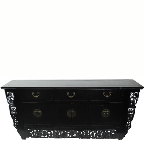 Black Antique Chinese Sideboard