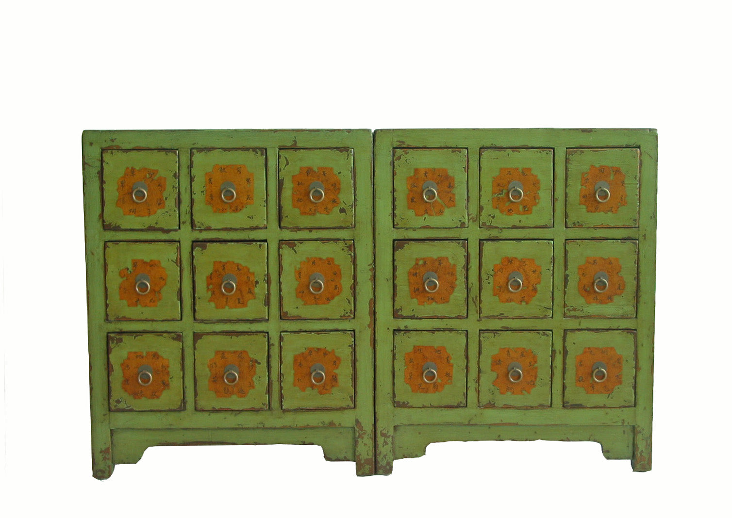 Green Antique Chinese Medicine Cabinet Dyag East