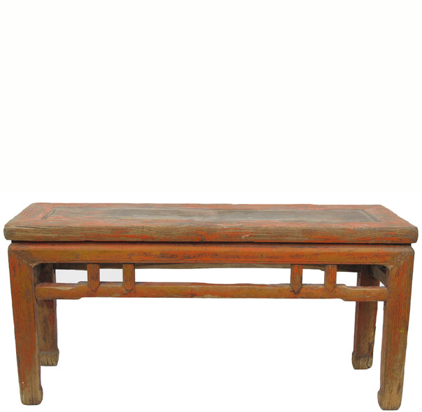 Rustic Antique Chinese Countryside Bench