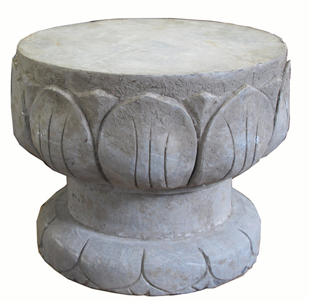 Lotus Leave Stone Garden Stool - Dyag East