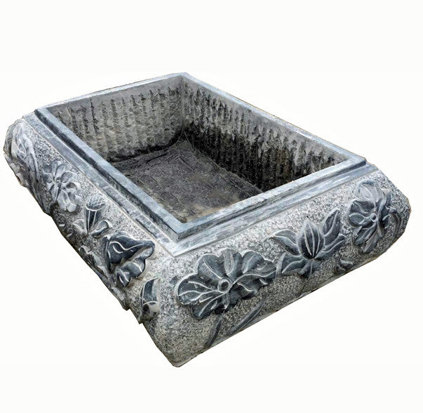Large Blue Stone Planter/Trough - Dyag East