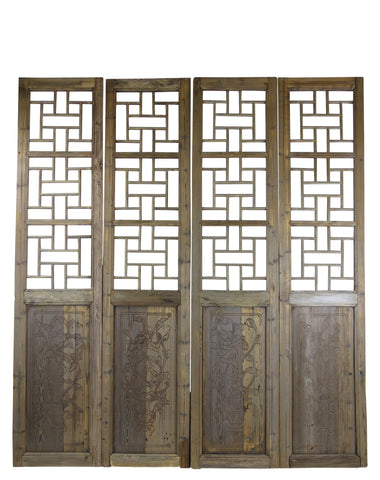 Antique Chinese Screen Panels - Dyag East