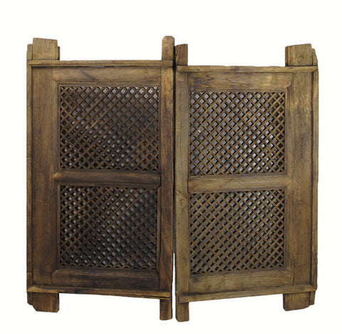A Pair of Antique Chinese Screen Window - Dyag East