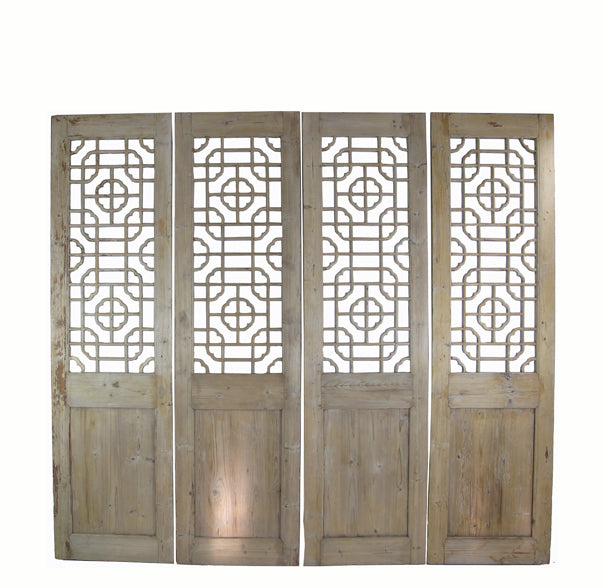 Antique Chinese Wood Screen Divider - Dyag East