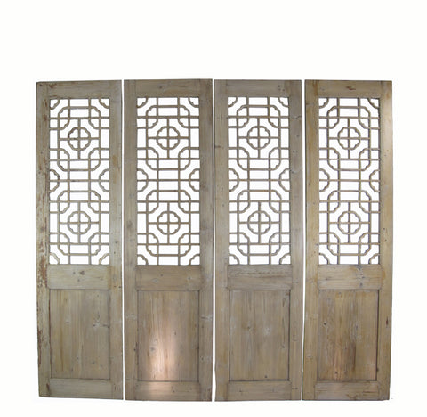 Antique Chinese Wood Screen Divider