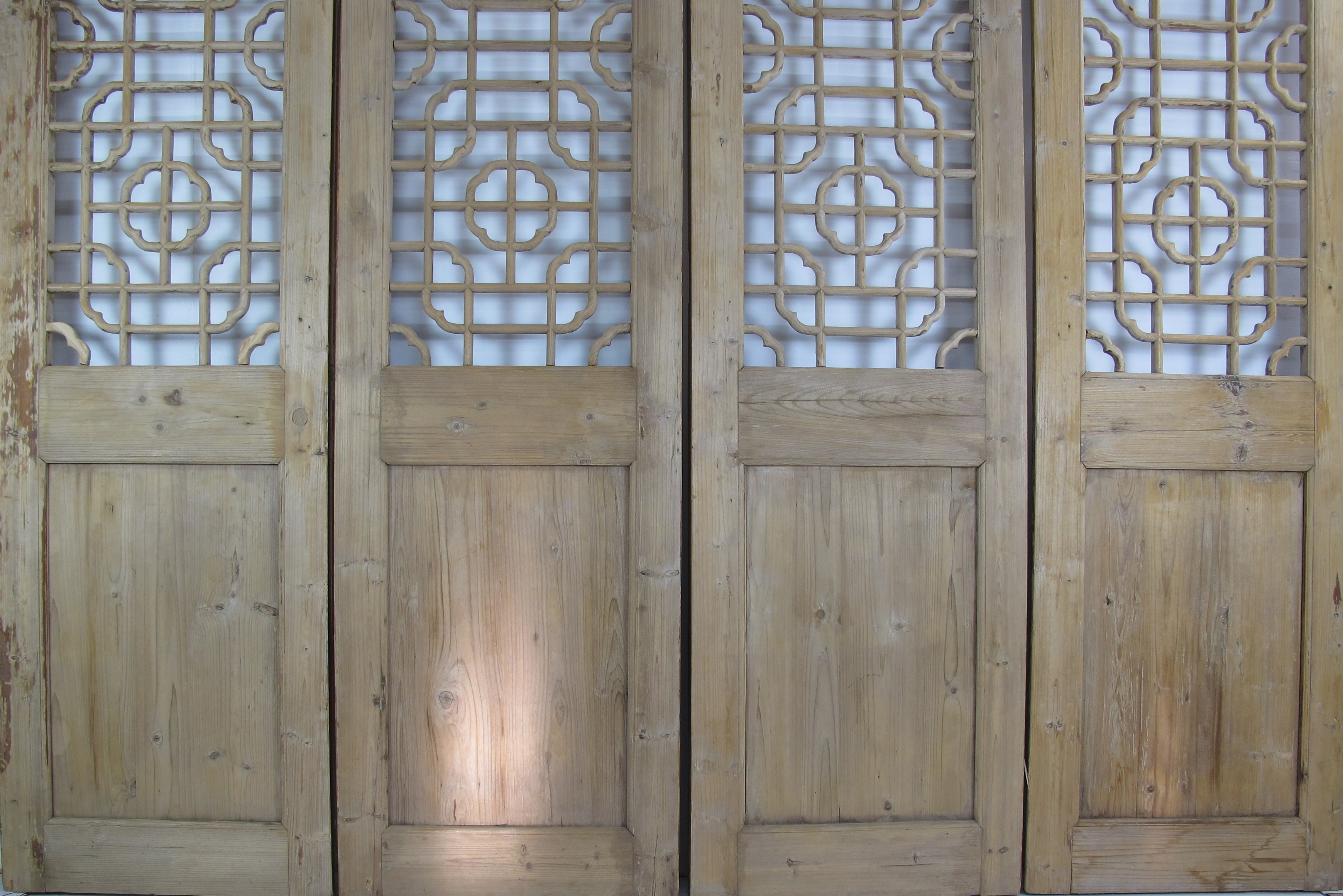 ... Antique Chinese Wood Screen Divider - Dyag East