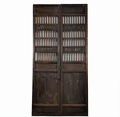 Antique Chinese Wood Screen Door - Dyag East