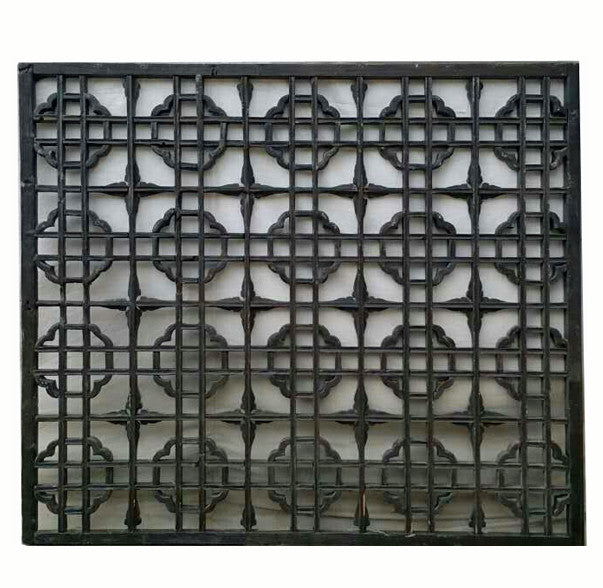 Dark Brown Wood Lattice Screen Panel - Dyag East