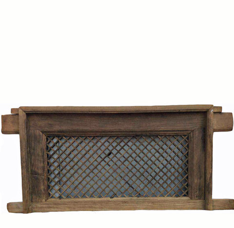 Antique Chinese Screen Window with Mounting Frame - Dyag East