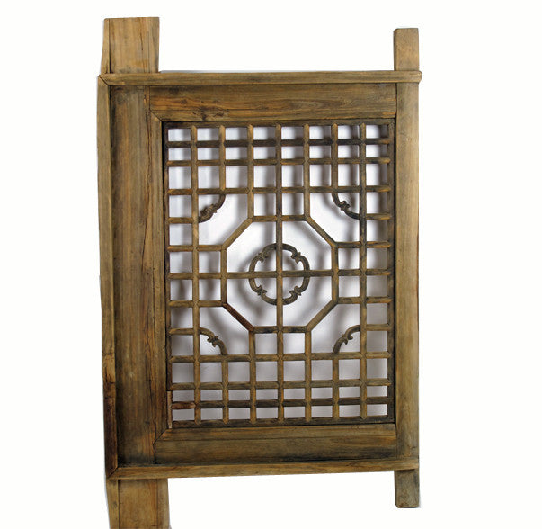 Z-Antique Wood Screen Lattice Window - Dyag East