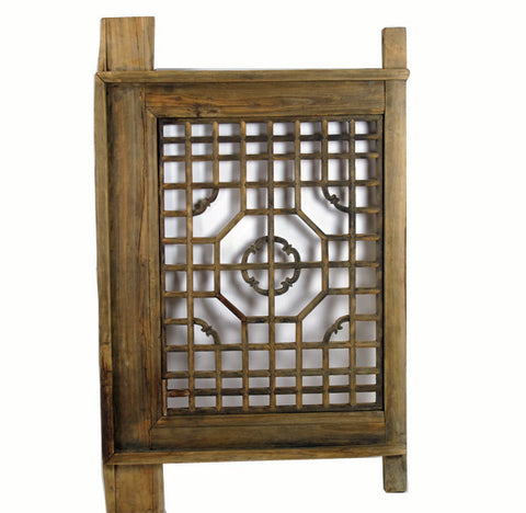 Antique Wood Screen Lattice Window