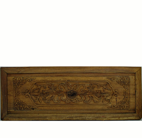 Hand Carved Wood Wall Hanging Panel - Dyag East