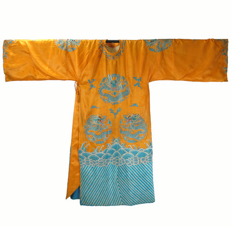 Yellow Vintage Peking Opera Costume - Dyag East