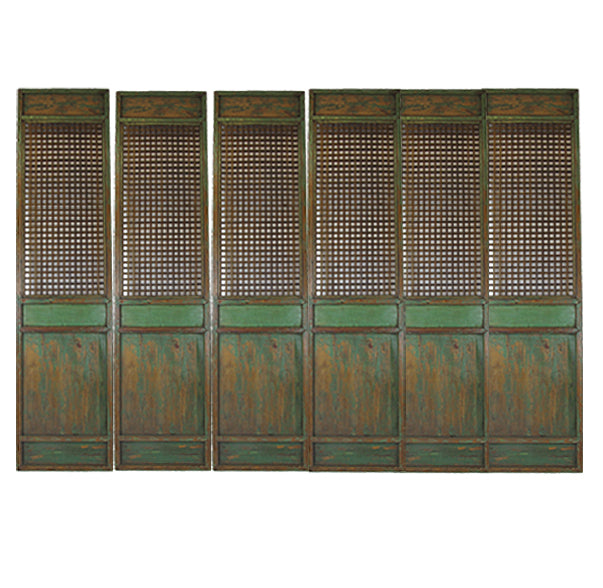 "Set of Six 115"" High Antique Chinese Lattice Panels - Dyag East"