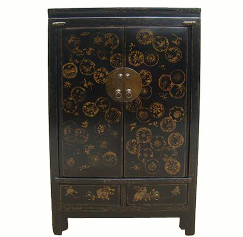 Cabinet w Hand Painted Dandelions