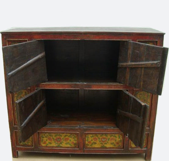... Hand Painted Tibetan Cabinet   Dyag East