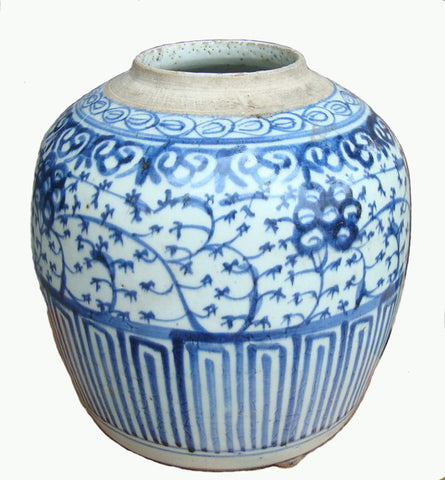 Vintage Blue and White Vase - Dyag East