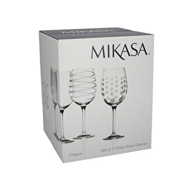 Crystal White Wine Set 4