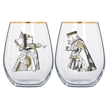 Alice In Wonderland Set Of 2 Tumblers