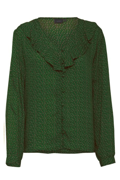Garat Blouse Green Pattern