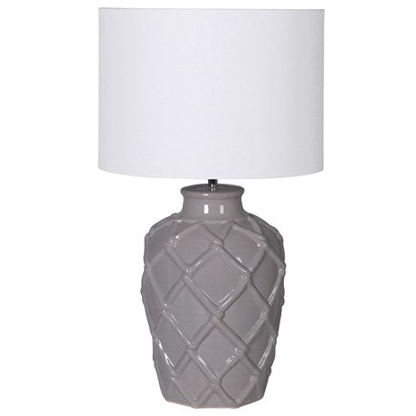 Grey Rope Pattern Ceramic Table Lamp
