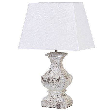 Wooden Lamp with White Shade