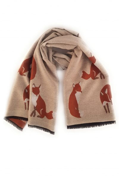 Zelly - Fox Scarf Cream
