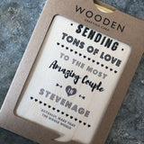 Wooden Stevenage Plaque