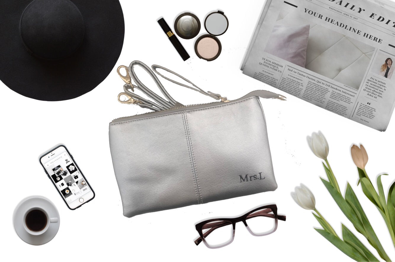 Personalised Clutch - Silver