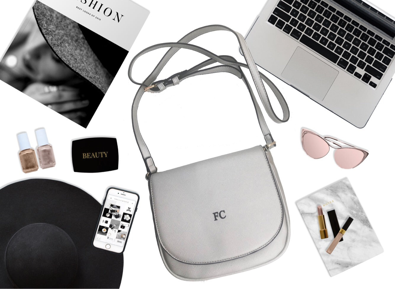 Personalised Cross Body - SIlver
