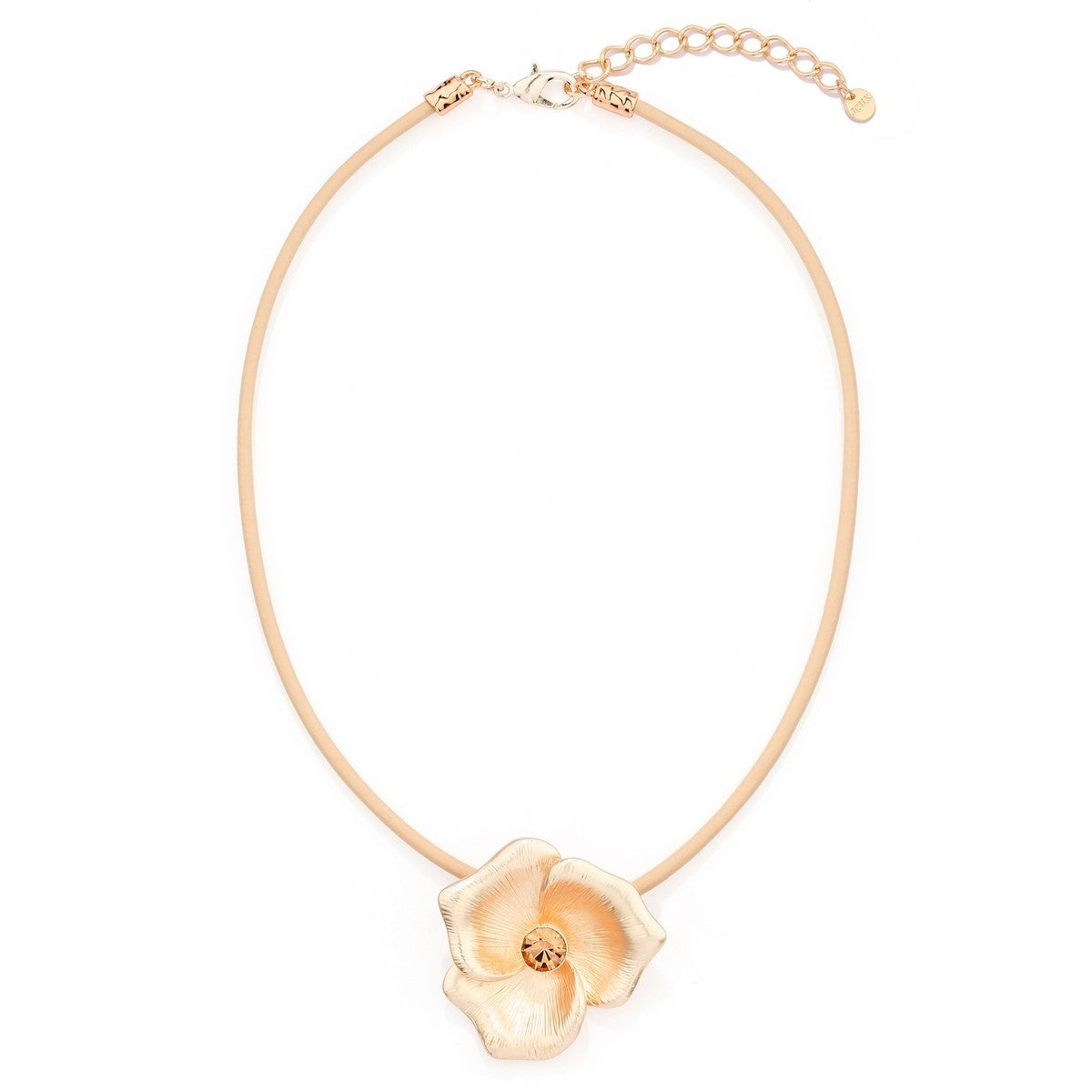 Flower Petal Necklace - Rose Gold