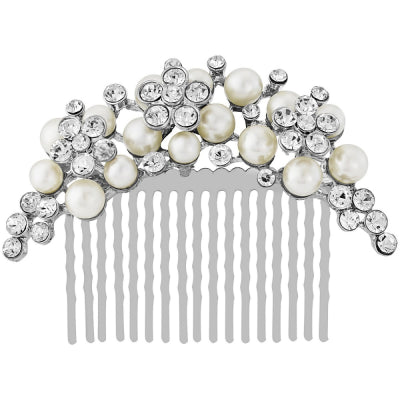 Pearl and Diamonte Bridal Hair Comb