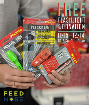 Free Pelican Flashlight with a Donation