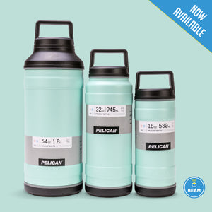 New Product: Seafoam Pelican Bottles