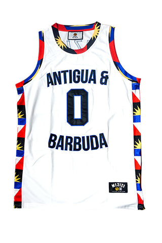 Antigua & Barbuda Basketball Jersey - MIZIZI