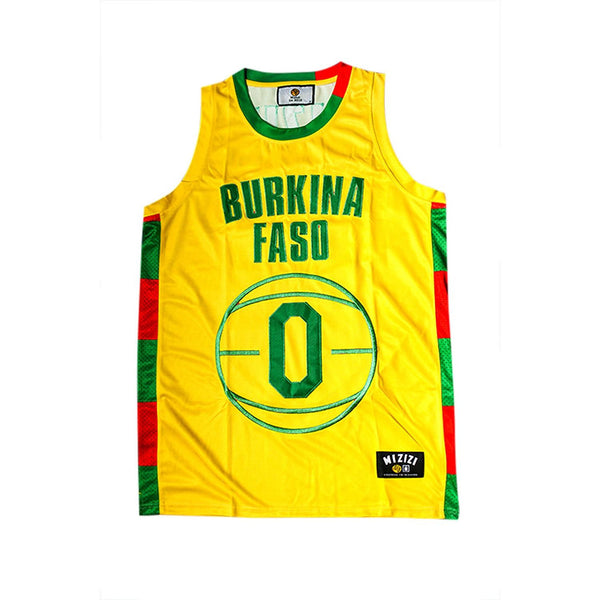 Burkina Faso Basketball Jersey - MiziziShop