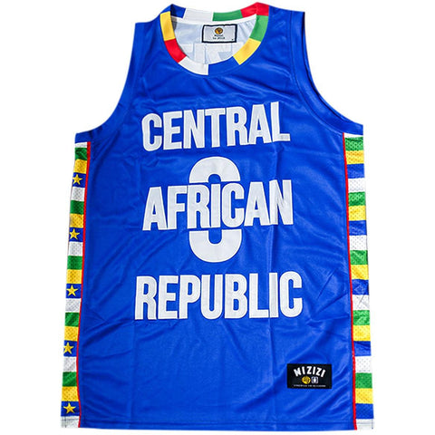 Central African Republic Basketball Jersey - MIZIZI