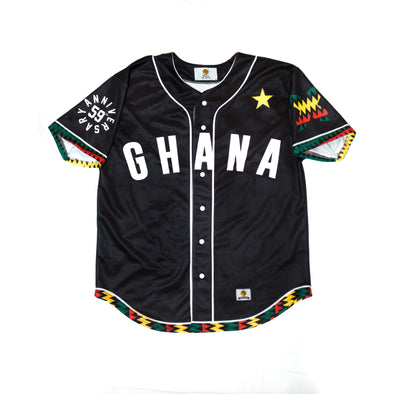 Limited Edition Ghana Independence Baseball Jersey - MiziziShop