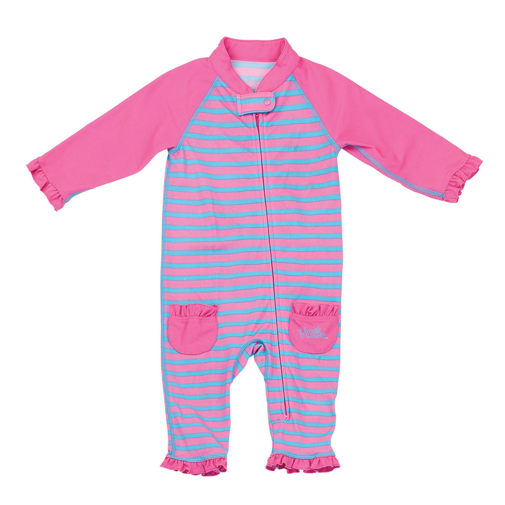 UV50+ Baby/Toddler Sun & Swim Suit-Pink Stripes
