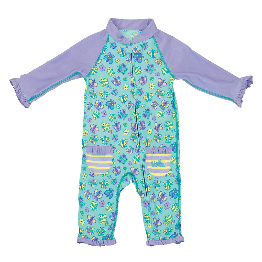 UV50+ Baby/Toddler Sun & Swim Suit-Lavender Butterflies