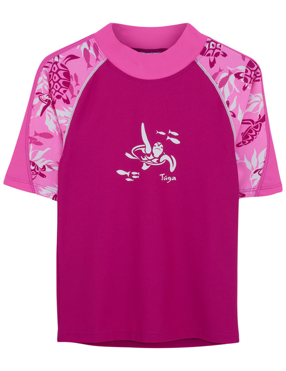 UV50+ Offshore Short Sleeve Rash Guard-Cotton Candy