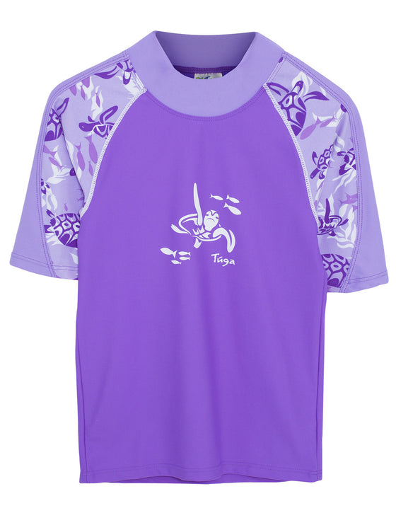 UV50+ Offshore Short Sleeve Rash Guard-Amethyst Purple