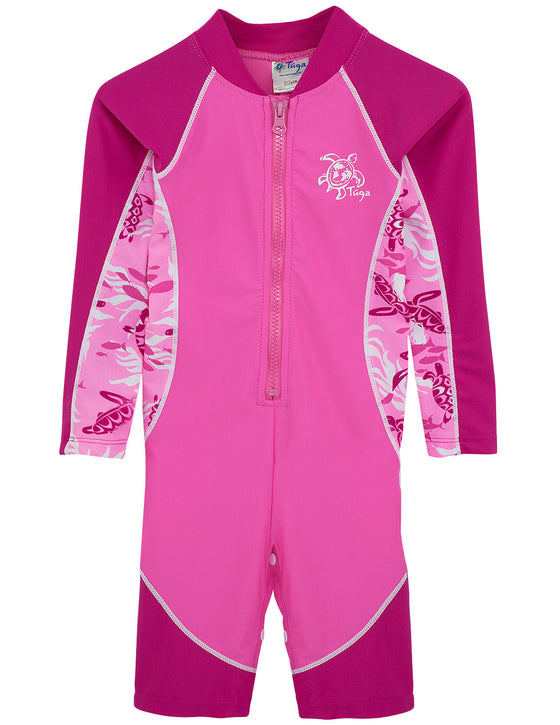 UV50+ Long Sleeve Sunsuit-Cotton Candy