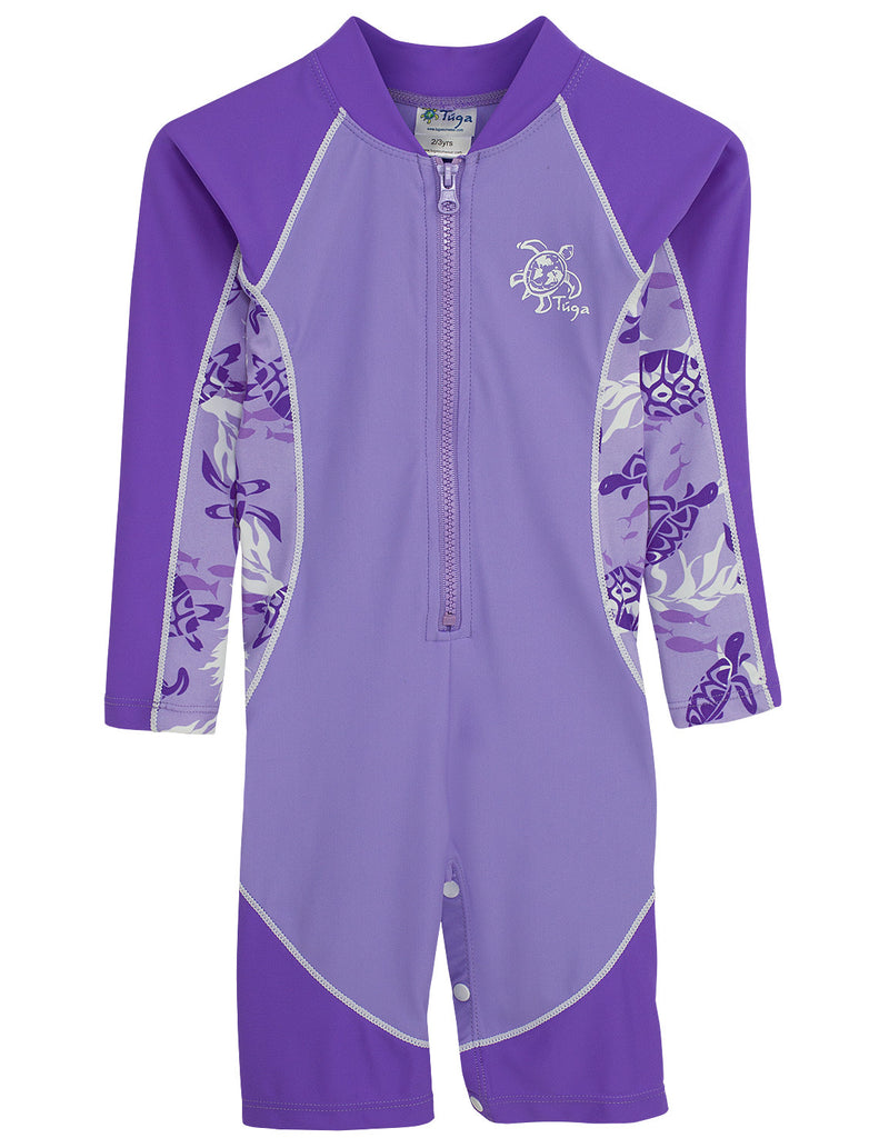 UV50+ High Tide Long Sleeve Sunsuit-Amethyst Blue
