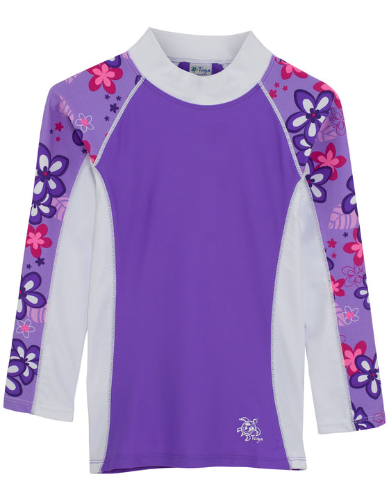 UV50+ Shoreline Long Sleeve Rash Guard-Violet