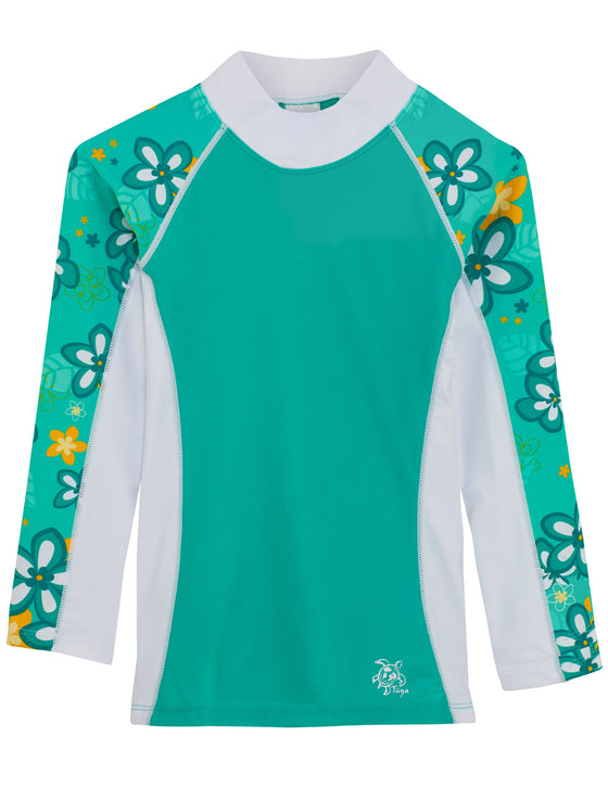 UV50+ Shoreline Long Sleeve Rash Guard-Seafoam