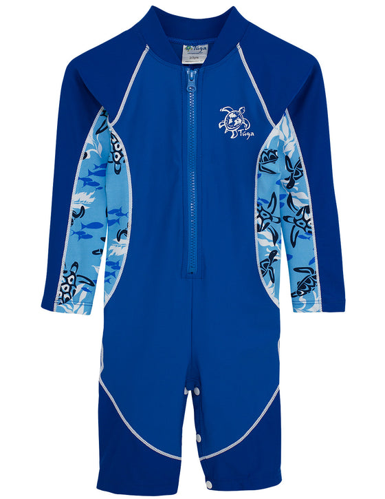 UV50+ High Tide Long Sleeve Sunsuit-High Sea Blue