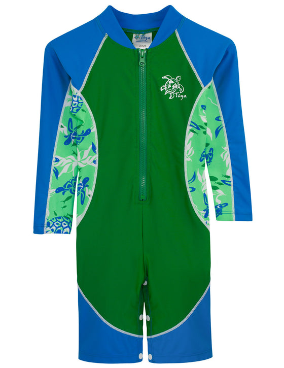UV50+ High Tide Long Sleeve Sunsuit-Green